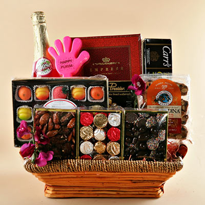 Purim Premium Basket! Free Shipping!